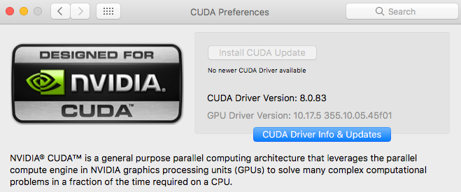 TensorFlow with GPU on your Mac — Installing CUDA, cuDNN and